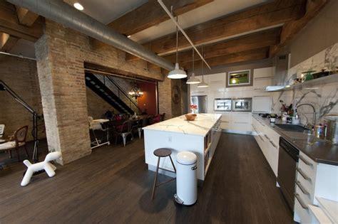 erie loft industrial kitchen