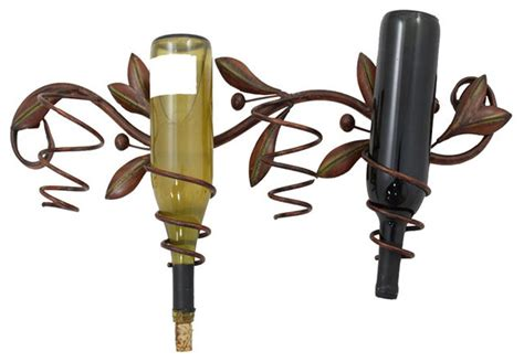 Metal Wall Wine Rack Bottle Holder by Metal Decor Olive Branch Wall Wine Bottle Holder Wine