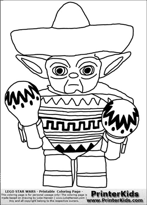 exelent simple yoda coloring pages festooning exle
