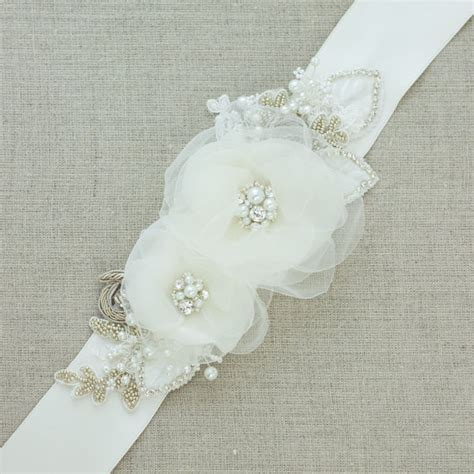 floral belt floral sash bridal belt bridal sash wedding