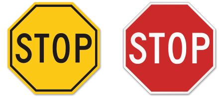 Modern Yellow by Stop Signs In Yellow Color Custom Stop Signs Amp Stop Sign