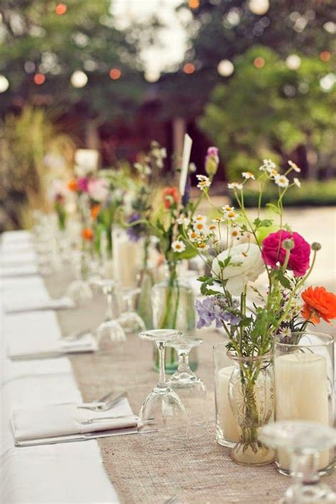 bridal shower table decorations flowers 7 ways to use wildflowers in weddings botanical