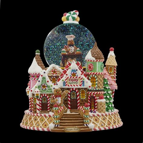 gingerbread factory snow globe by christopher radko