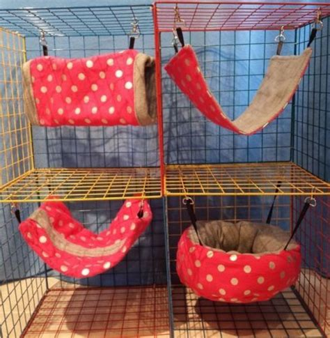 rat bedding ferret rat sugar glider guinea pig hammock bedding set pink polka dots print pet