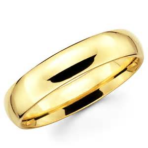 gold band 10k solid yellow gold 5mm plain s and s wedding band ring