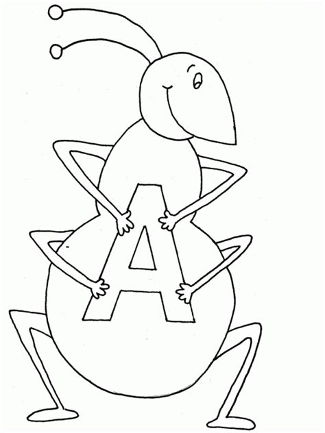 alphabet review coloring pages brilliant beginnings preschool a is for ant let us