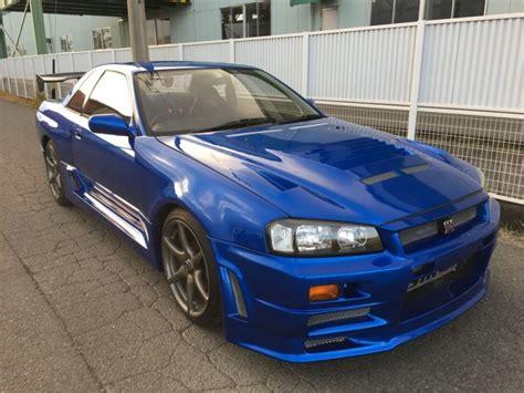 blue nissan skyline nissan skyline gt r r32 bayside blue z tuned r34 kit