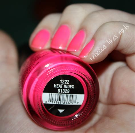 China Glaze Heat Index likes nails china glaze sunsational collection swatches and review