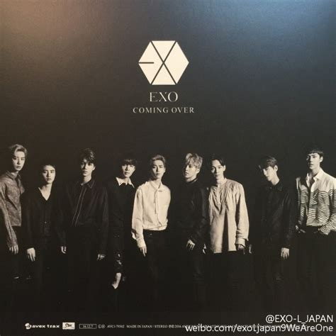 exo japan album k2nblog exo s japanese release quot coming over quot album scans o o