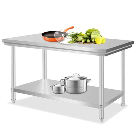 Stainless Steel Kitchen Prep Table Stainless Steel Commercial Kitchen Work Prep Table 30 Quot X 48 Quot Heavy Duty Nsf New Ebay