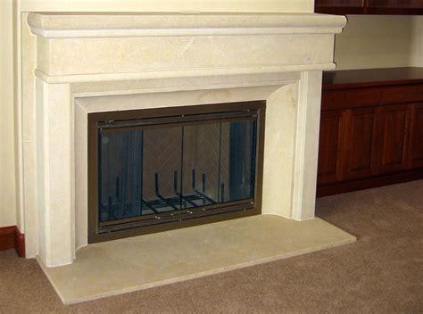 Limestone Fireplace Hearth by Q A Limestone Fireplace Process Center Inc