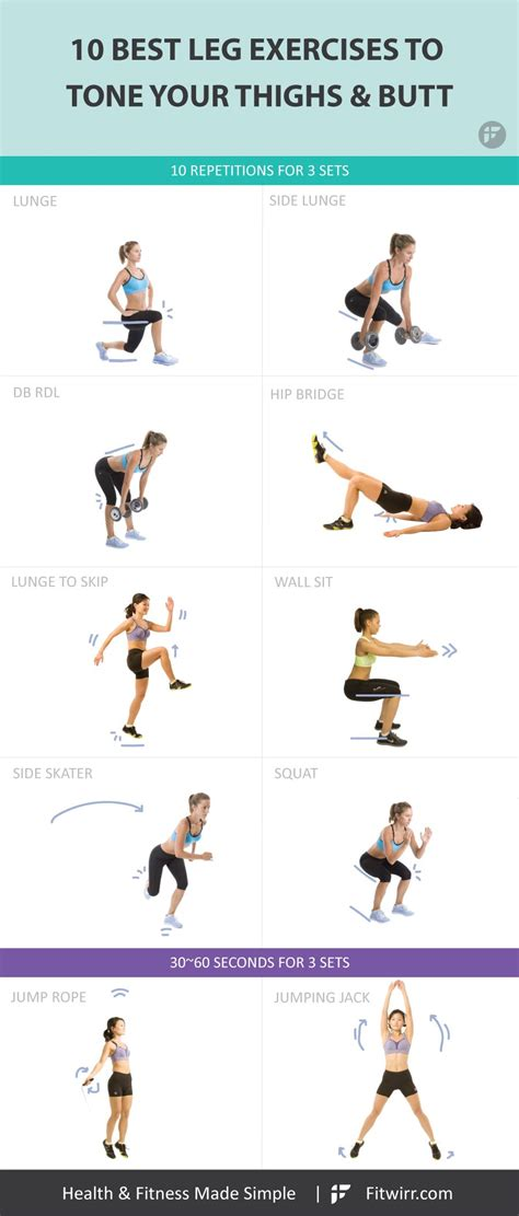 10 Top Exercises For Losing Leg Fast by 10 Best Leg Exercises For To Build Shapely Legs