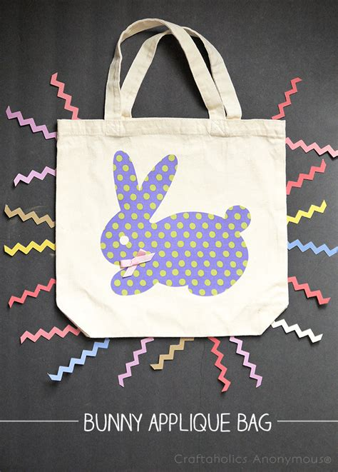 Rrrribbit In My Bag by Craftaholics Anonymous 174 Bunny Applique Bag Tutorial