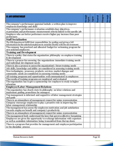 privacy audit template hr audit with checklist