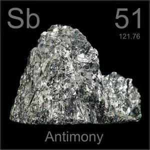 broken crystal a sample of the element antimony in the
