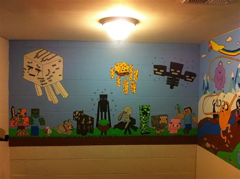 awesome wall murals unique minecraft wall uk 65 in resin animal heads wall with minecraft wall uk