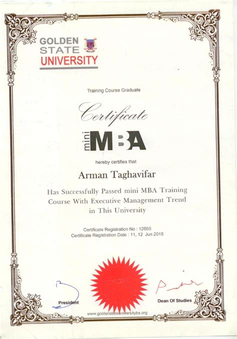 Mba Certificate by Certificates Maroon Karan Co