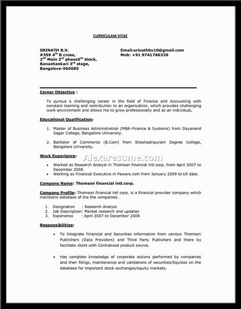 mba finance resume sle objective statement for finance resume 28 images