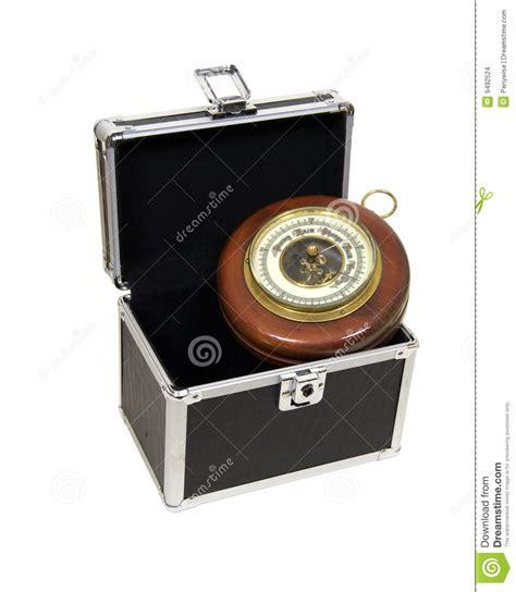 bã ro barometro antico e caso moderno fotografia stock