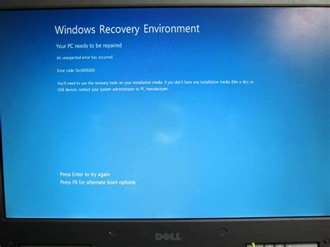 install windows 10 without nx dell inspiron error 0xc0000260 when installing windows 8