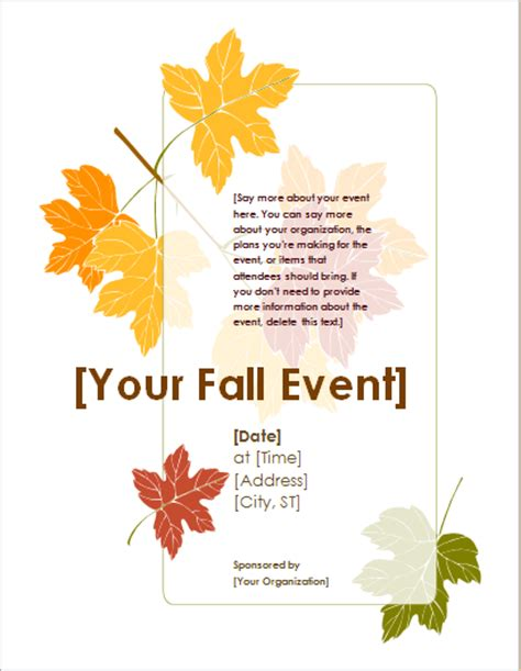 fall festival flyer template summer and fall event flyer templates document hub