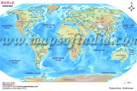 world map of large rivers world river map major rivers of the world