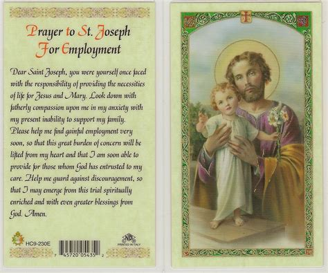 prayers to st prayer to st joseph for employment