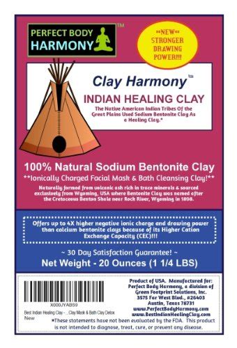 Great Plains Bentonite Detox Best Time To Take It by Clay Harmony 20 Oz Best Indian Healing Clay Sodium