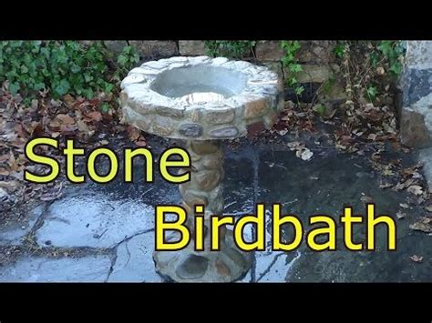 stone birdbath mike haduck youtube