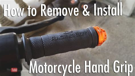 Handgrip Racing Boy How To Remove Install Motorcycle Racingboy Grip