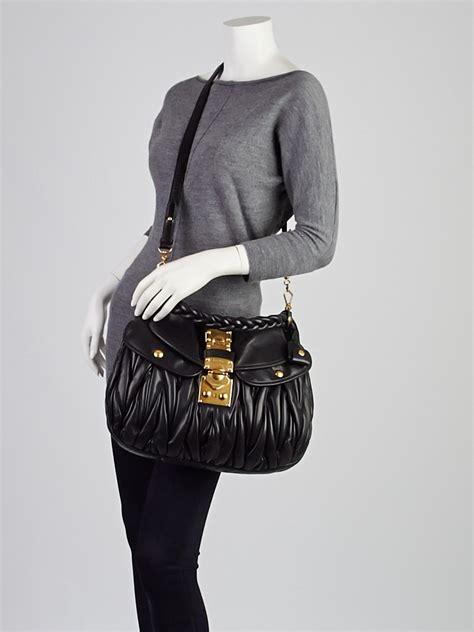 Miu Miu Coffer Nappa Matelasse Bag by Miu Miu Black Matelasse Nappa Leather Coffer Hobo Bag