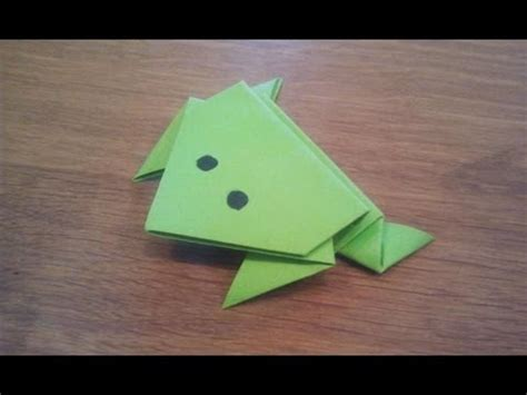 Learn Origami Make A Paper Frog - how to make a paper jumping frog origami yourepeat