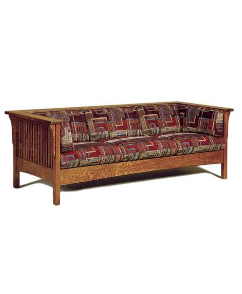 couch slats cubic slat sofa amish direct furniture