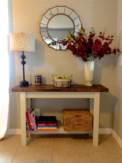barn console table building the hyde pottery barn console table overthrow