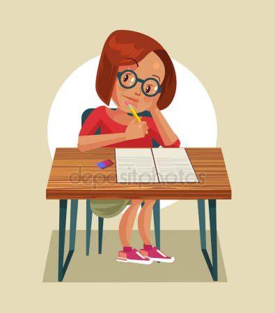 imagenes animadas haciendo tareas ni 241 a ni 241 o personaje hacer la tarea ilustraci 243 n de dibujos