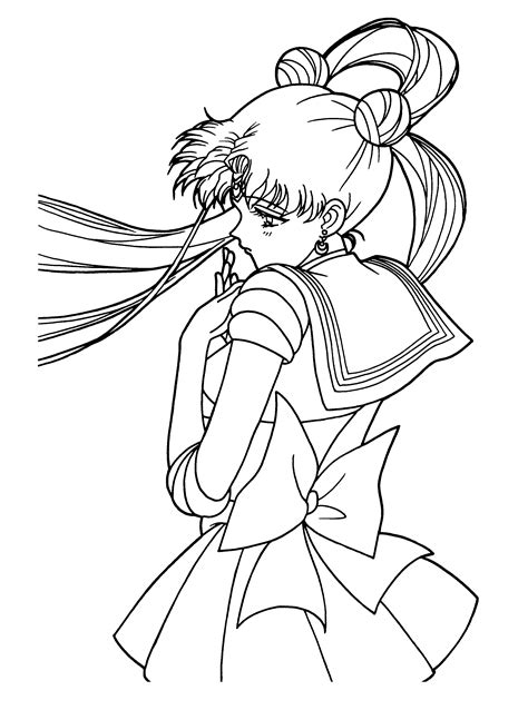 coloring page of a coloring page tv series coloring page sailormoon picgifs