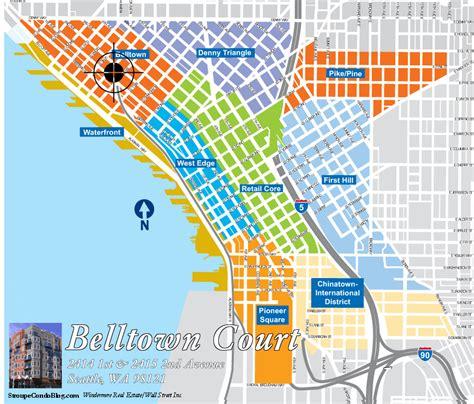 seattle map belltown belltown court seattle condo seattle condos for