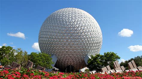 disney epcot wallpaper spaceship earth a beautiful sunny day to visit epcot