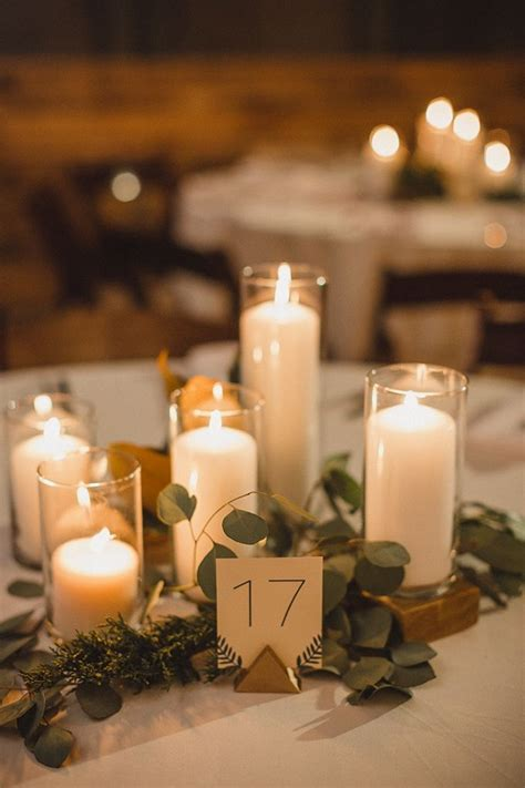 Wedding Centerpiece No Flowers by 1000 Ideas About Candle Wedding Centerpieces On