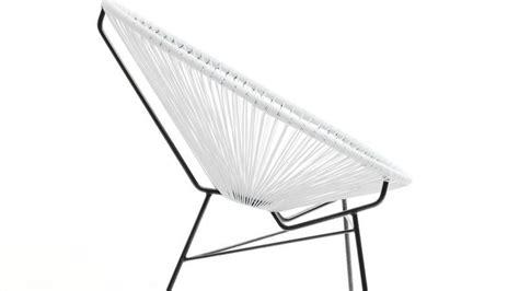 fauteuil scoubidou 100 fauteuil scoubidou en r 233 sine tres 233 e ronde blanc acapulco