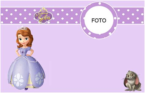 Sofia The First Free Printable Invitations Cards Or Photo Frames Oh My Fiesta In English Sofia The Birthday Card Template