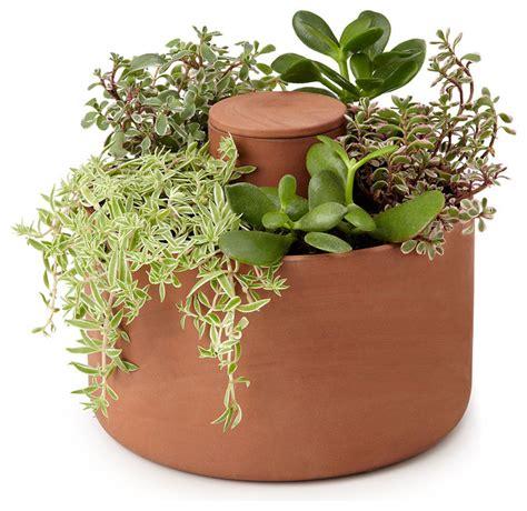 self watering indoor planters self watering planter contemporary indoor pots and planters