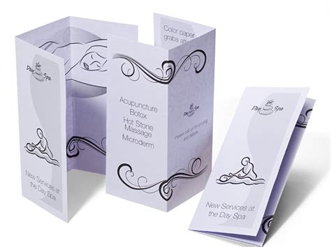 How To Make A Paper Brochure - color brochure printing services fedex office