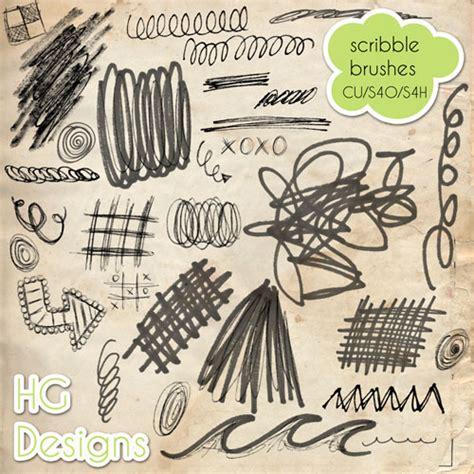 doodle brushes brush photoshop dessin doodle scribble brushes par cesstrelle