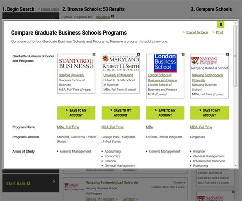 Unc Mba Application Timeline by Gmac S New Tool School Finder Kaplan Test Prep