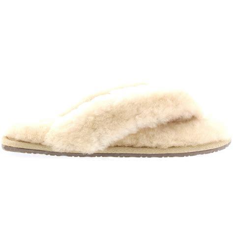 shearling flip flop slippers womens luxury sheepskin australian flip flop rubber