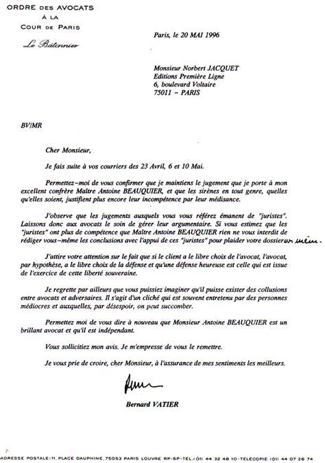 Exemple De Lettre De Procuration Pour Avocat Modele Lettre A Avocat Document