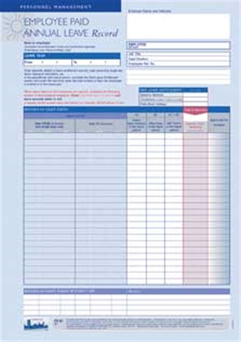 Annual Leave Card Template by Leave Record Card