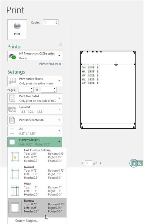 excel print layout problem margins do not fit paper size excel 2007 make a
