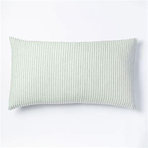 Harbor Linen Pillows Sale by Striped Belgian Flax Linen Shams Pale Harbor West Elm